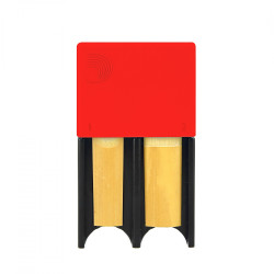 Portacañas D'Addario Woodwinds de 4 Rojo