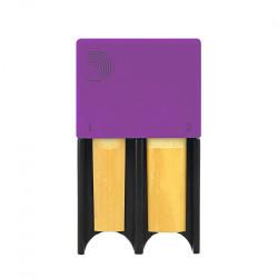 Portacañas D'Addario Woodwinds de 4 Púrpura