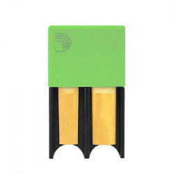 Portacañas D'Addario Woodwinds de 4 Verde