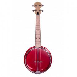Banjolele Bones BB400R 4 Cuerdas Rojo