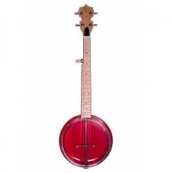 Banjolele Bones BB500R 5 Cuerdas Rojo