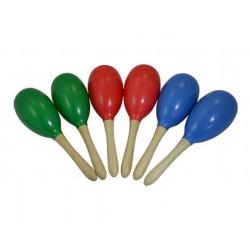 Maracas de Plástico Escolar Verde