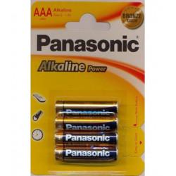 Blister 4 Pilas Panasonic 1,5V LR03/AAA
